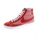 Nike Blazer Mid Woven Suede Trainers Hyper Red