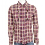 Denham Malloy Checked Shirt Blue