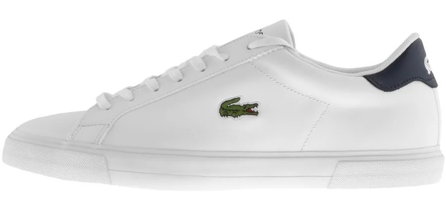 White Lacoste trainers