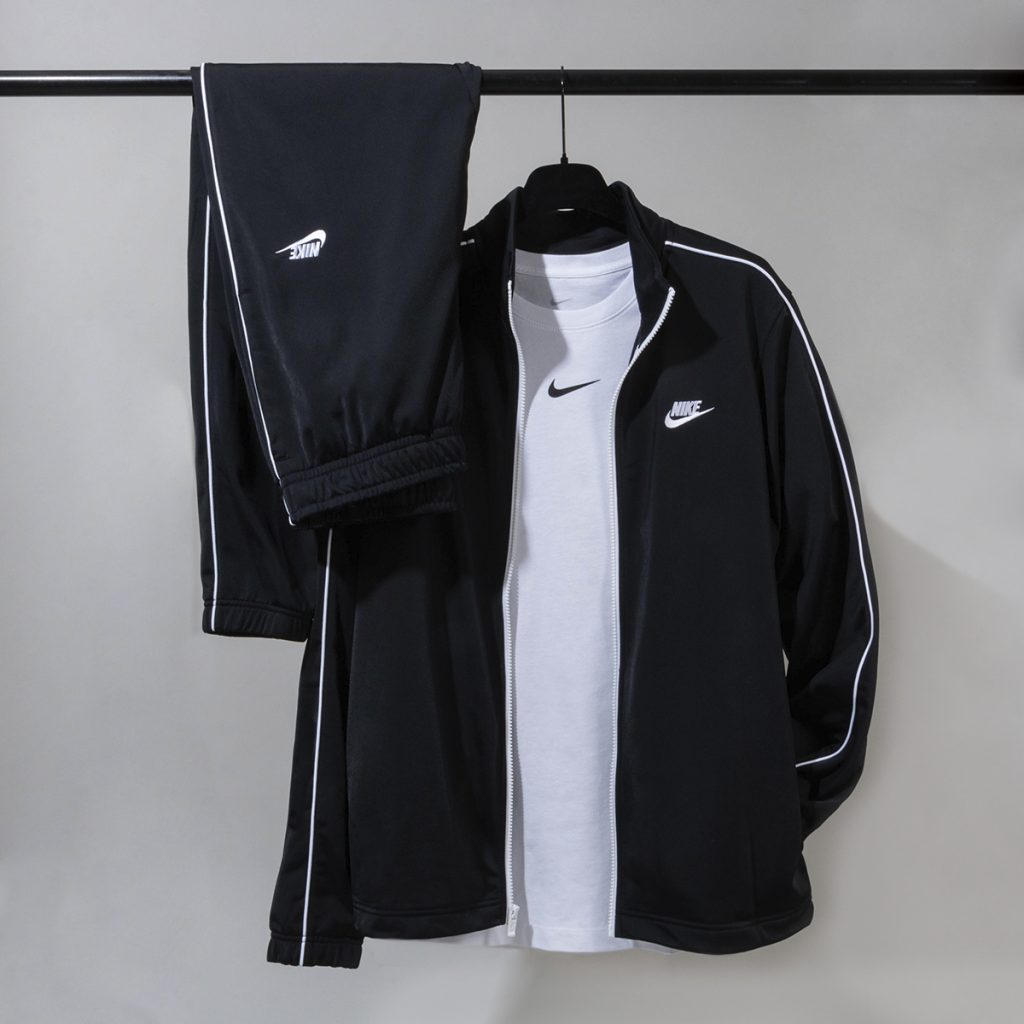 Nike tracksuit hanging on a rail